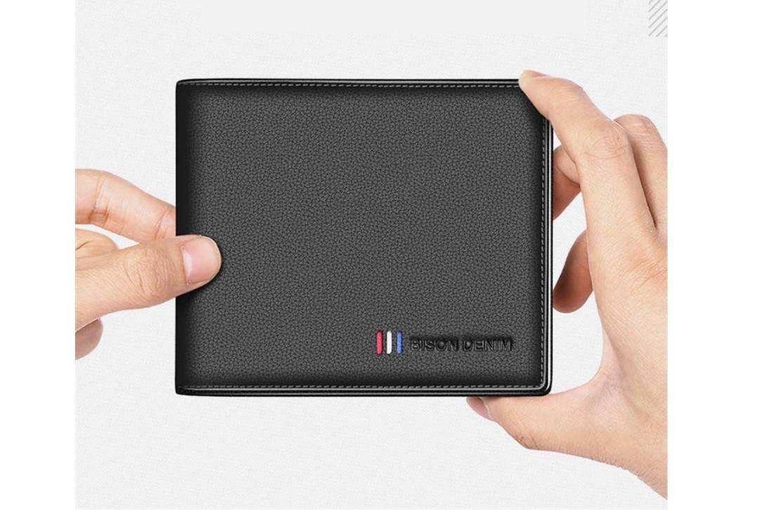 Men's Cow Leather Short Wallet