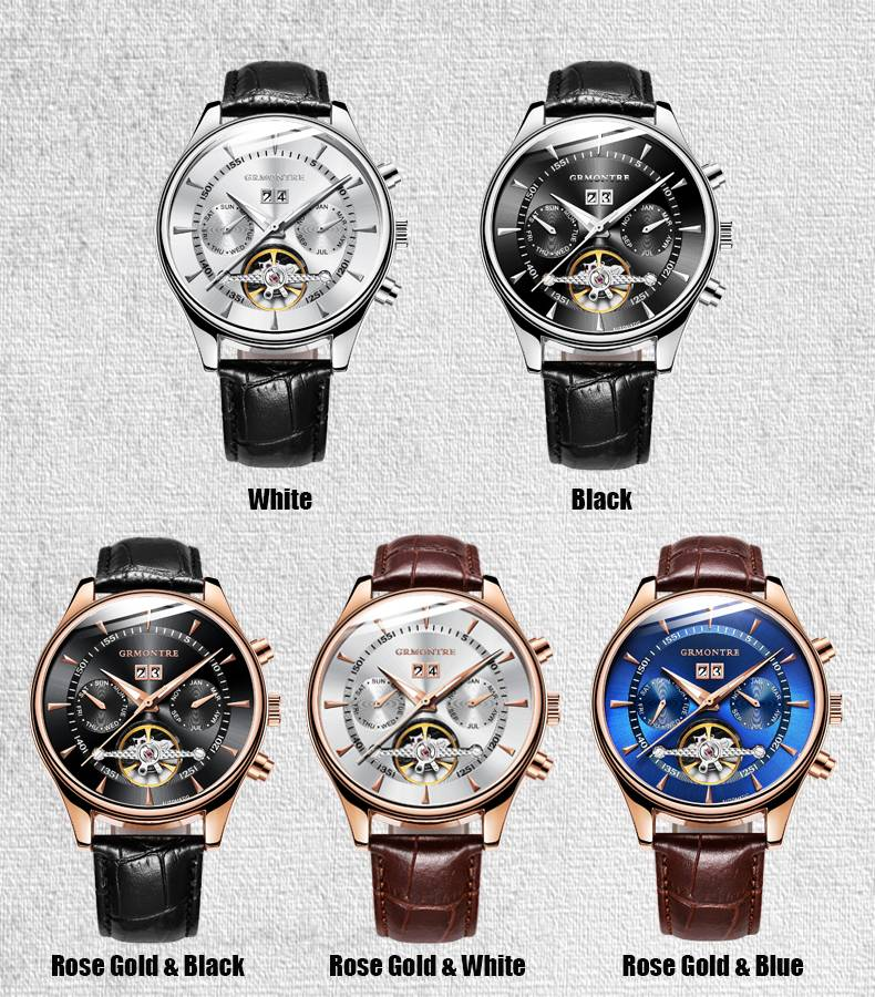 Men's Leather Mechanical Watches
