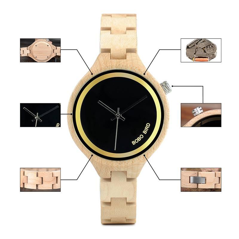 Women's Minimalist Wooden Watch