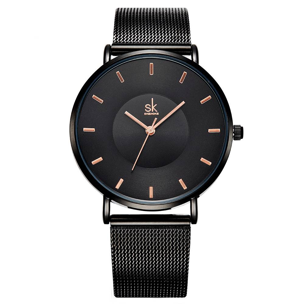 Ultra Thin Wristwatches for Women with Metal Mesh Strap Watches Women - Montres
